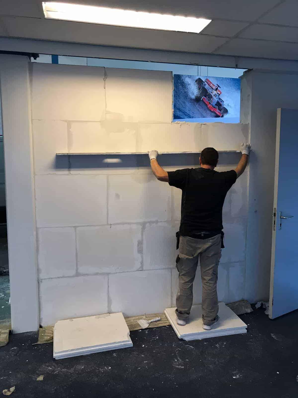 Gipsblokken Wand Floorplaza