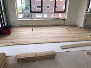 Leggen houten vloer Essen